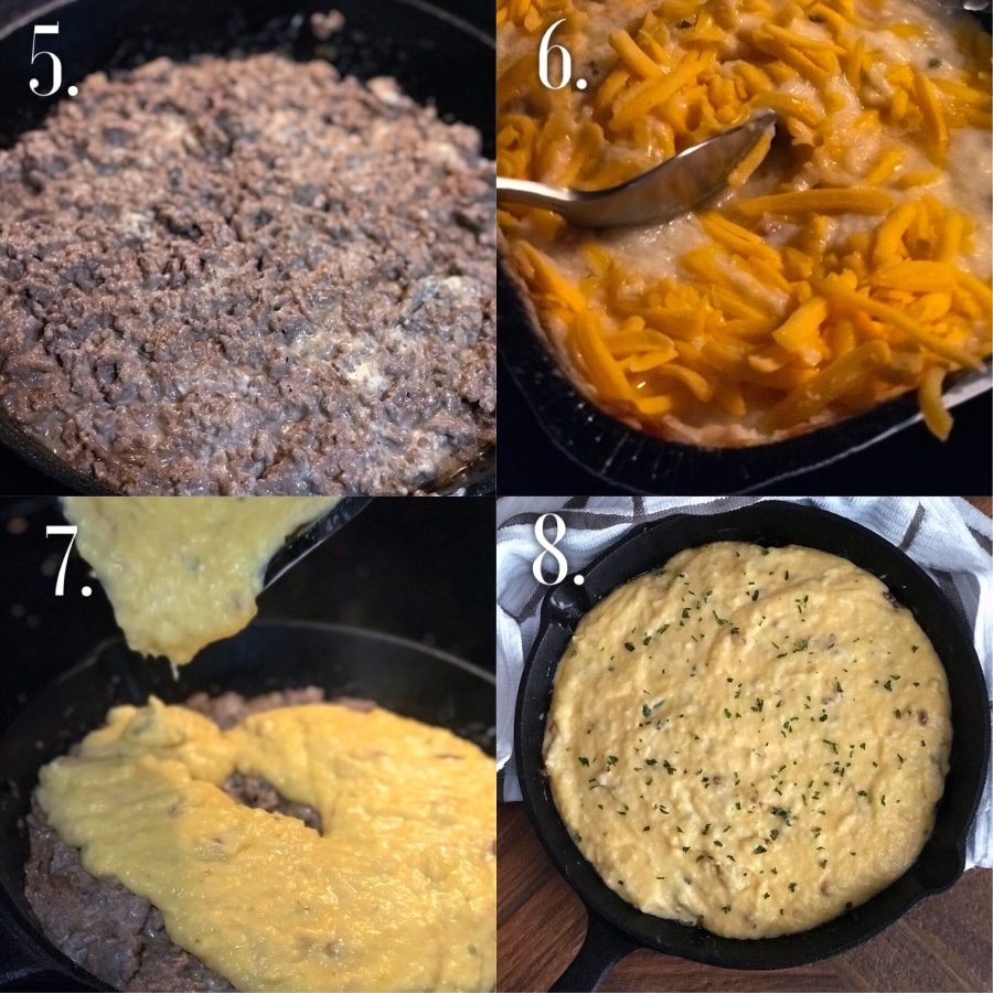 Step-by-Step Cheesy Mashed Cauliflower Shepards Pie