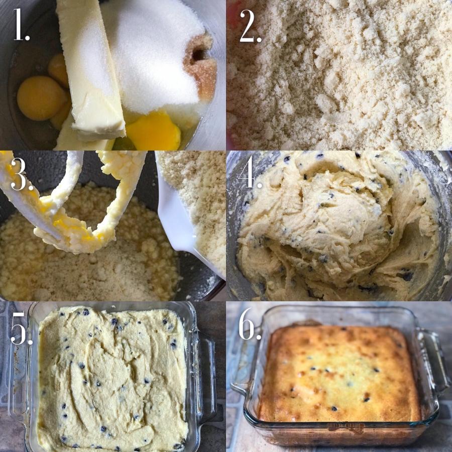 Step-by-step Keto Chocolate Chip Cake