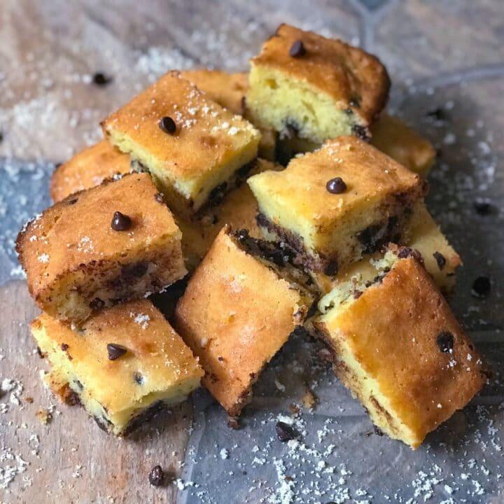 Keto Chocolate Chip Cake | Gluten Free