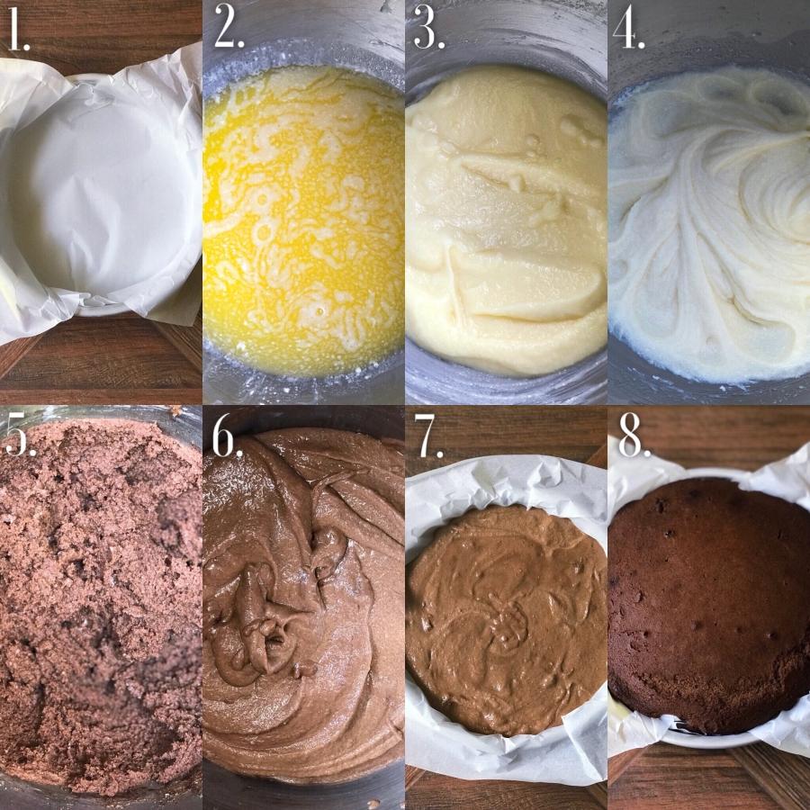 Blueberry Chocolate Cake Step-By-Step