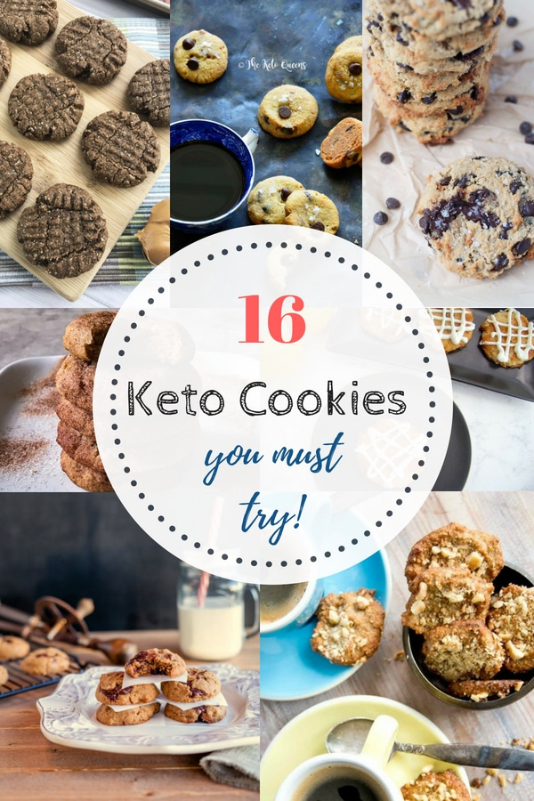 16 Best Keto Cookie Recipe! Great collection of all time favorites! #keto #ketocookies #sugarfree #sugarfreecookies #ketodessert #lowcarb #lowcarbcookies #lowcarbketocookies #chocolatechip #peanutbutter #nobakecookies #glutenfreecookies | buttertogetherkitchen.com
