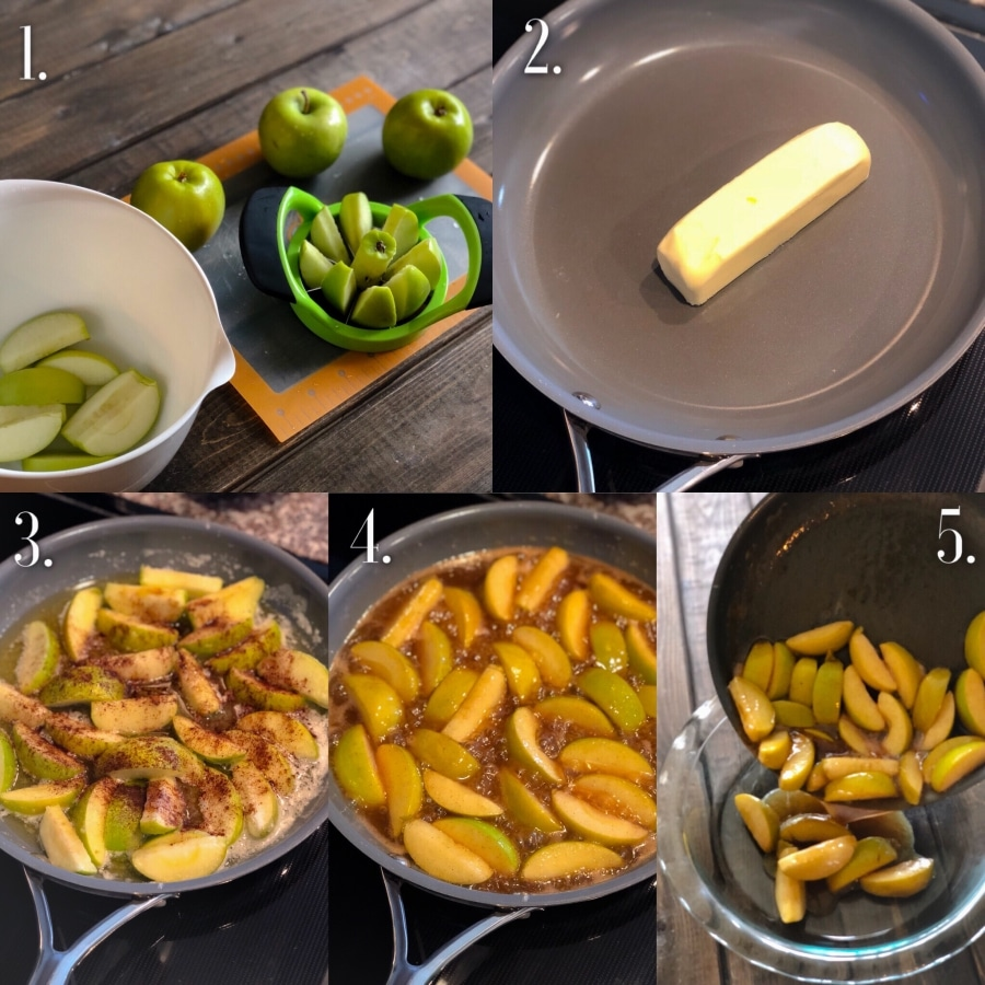 apple filling step by step