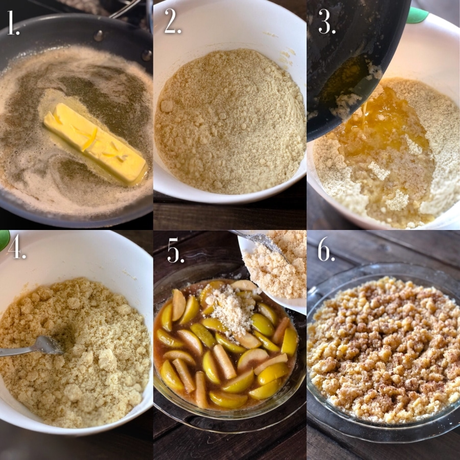 apple crisp crumble step by step photos