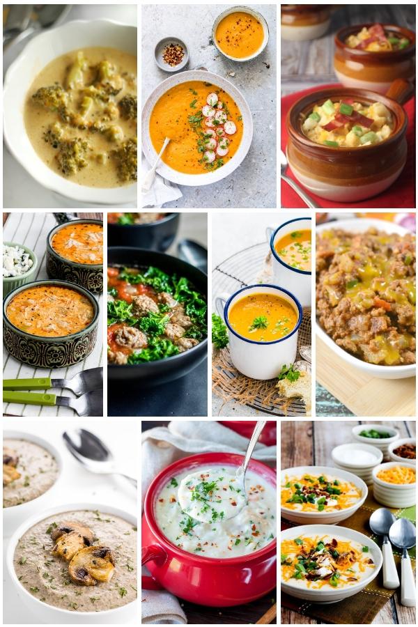 20 Best Low Carb & Keto Soup Recipes #ketosoups #lowcarbsoups #soups #soup #ketodiet #ketorecipes #ketolunch #ketodinner #souprecipes | buttertogetherkitchen.com