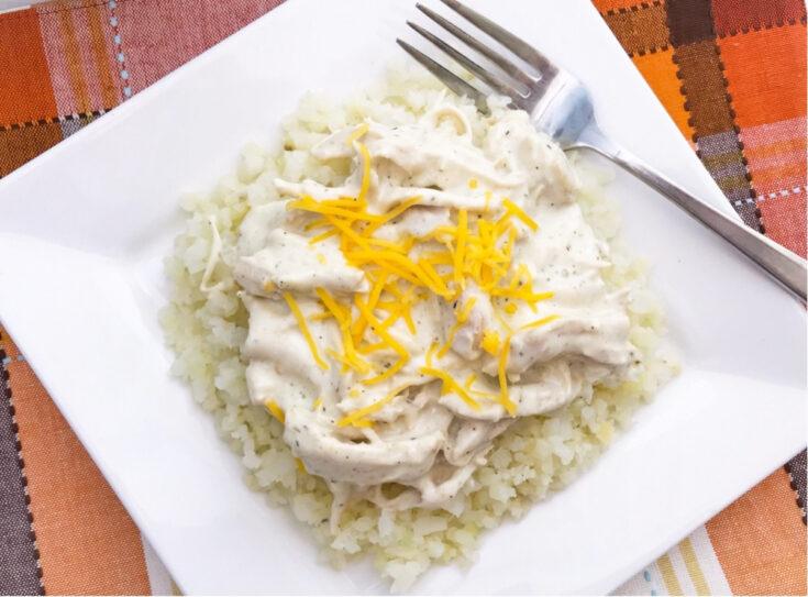 Quick Instant Pot Keto Cheesy Ranch Chicken