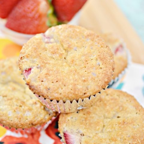 Fluffy Keto Strawberry Muffins