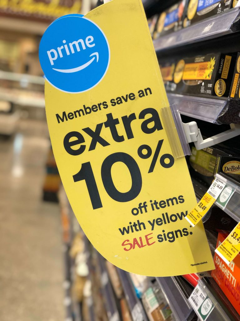 amazon prime sign for extra discount at whole foods