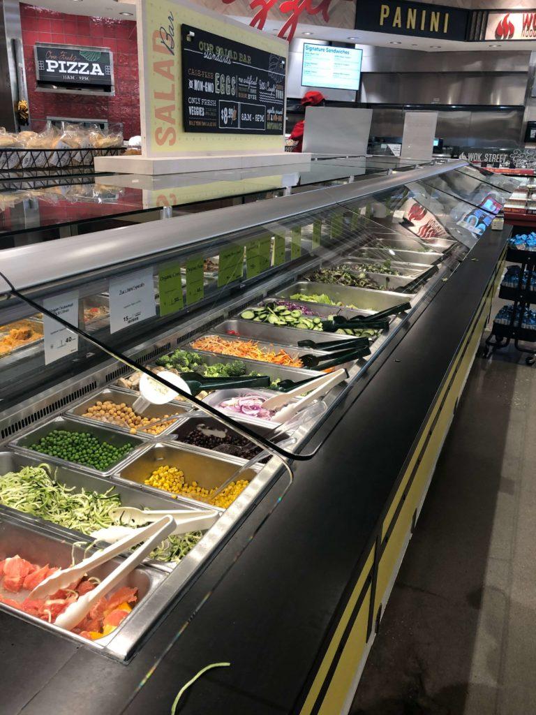 food bar at Whole Foods