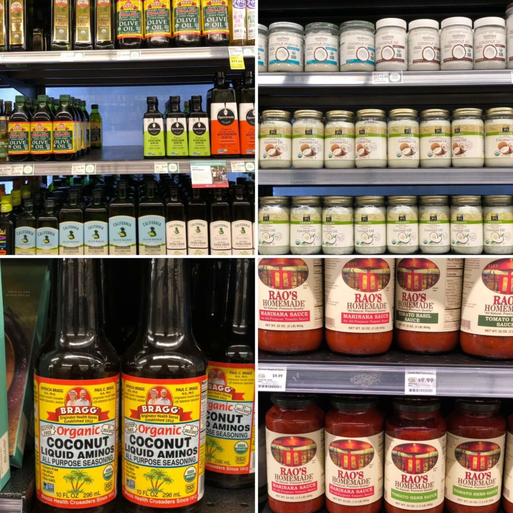 keto options for oils and sauces