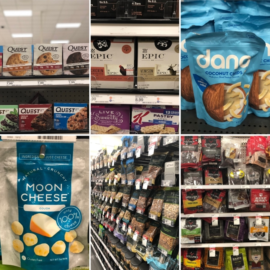 On the go keto snack options at target