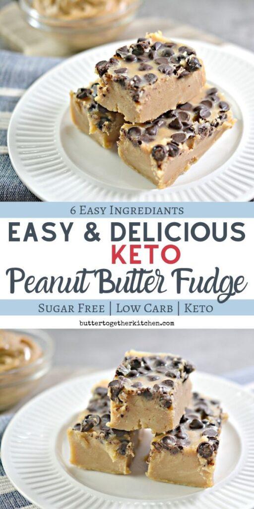 Easy Sugar Free Keto Peanut Butter Fudge Butter Together Kitchen