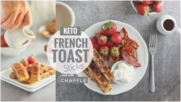 Baked Chaffle French Toast Sticks (Freezer-Friendly) | Keto French Toast