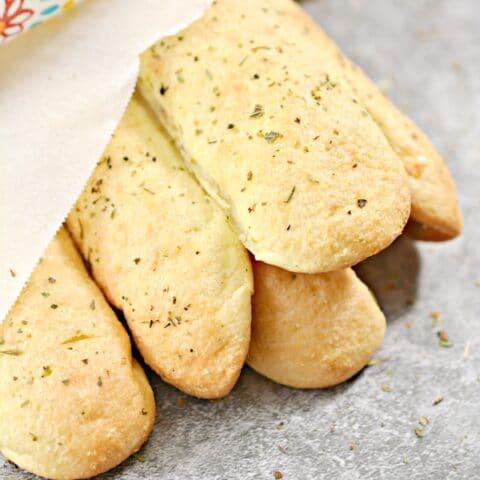 Low Carb Keto Italian Garlic Breadsticks