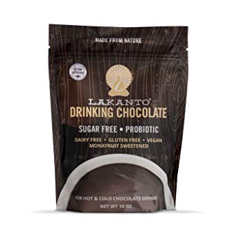Lakanto Sugar-Free Drinking Chocolate, Hot Cocoa with Probiotics, Keto