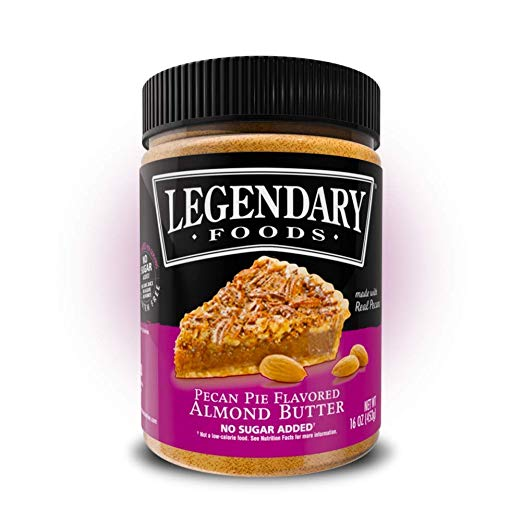 Legendary Foods Almond Butter | Keto Diet Friendly, Low Carb, No Sugar Added, Vegan | Pecan Pie