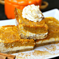 Healthy Keto Pumpkin Pie Cheesecake Bars
