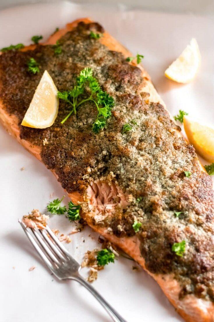 Crispy Parmesan Dill Salmon