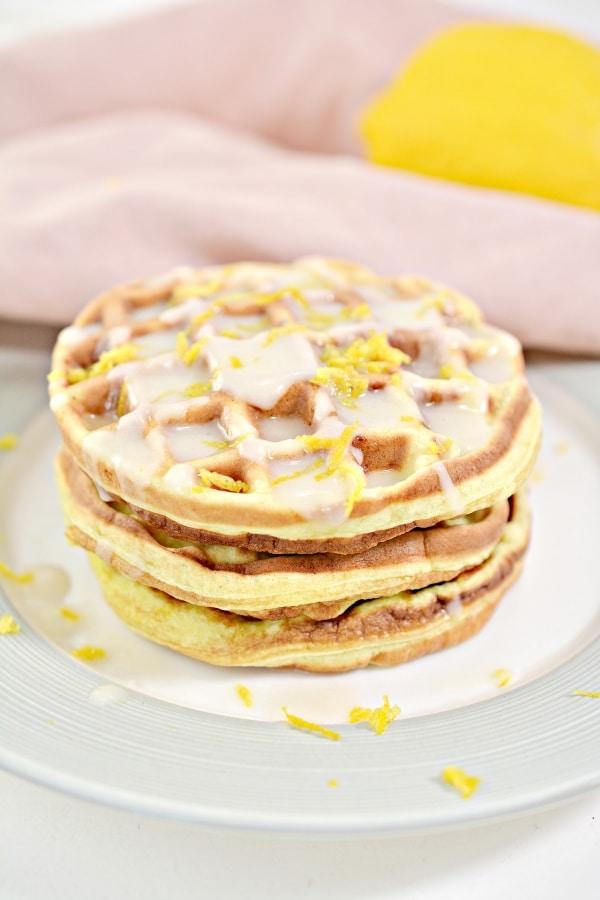 Keto Lemon Cake Chaffles