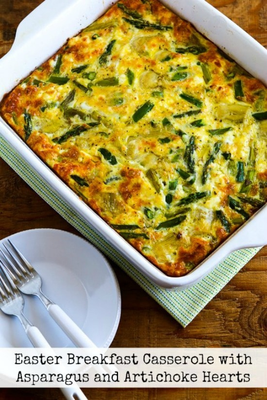 Breakfast Casserole with Asparagus and Artichoke Hearts (Video) – Kalyn's Kitchen