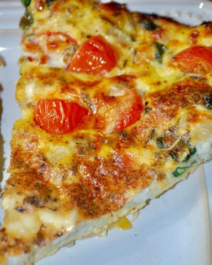 Spinach, Tomato & Cheese Frittata