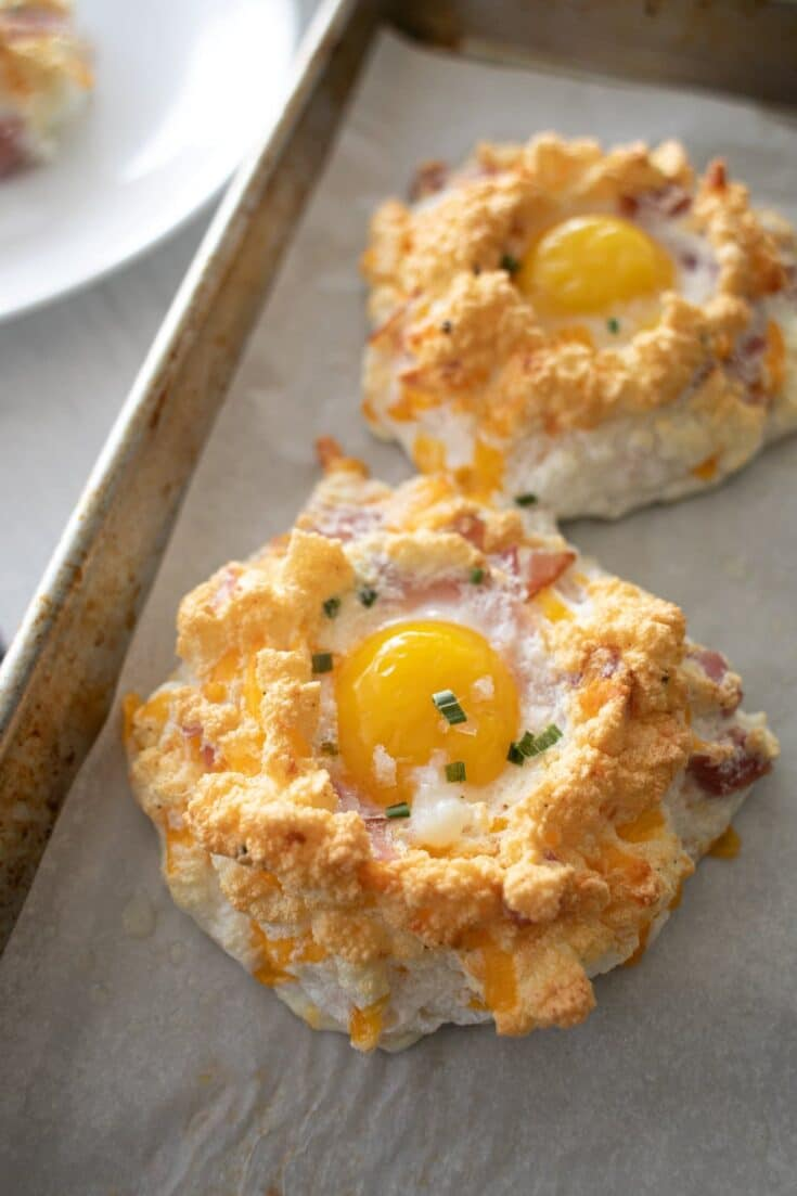 Ham and Cheese Cloud Eggs