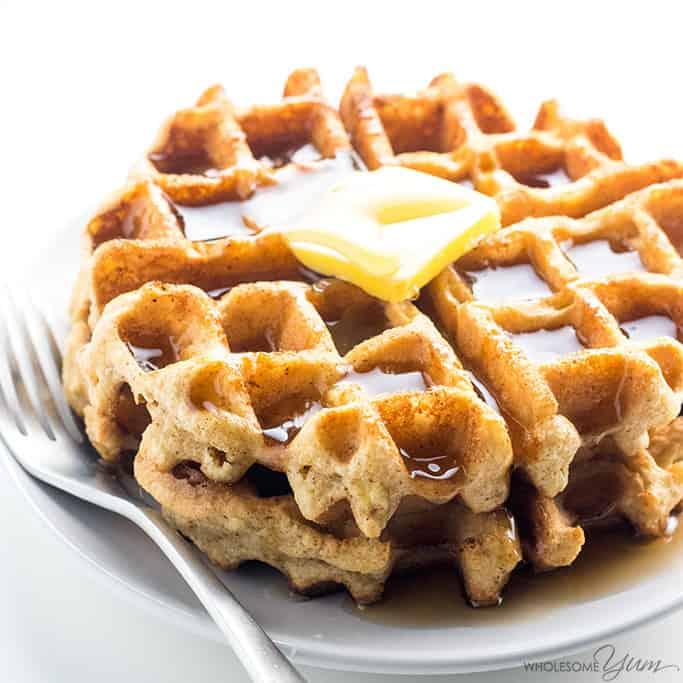 Keto Paleo Almond Flour Waffles Recipe