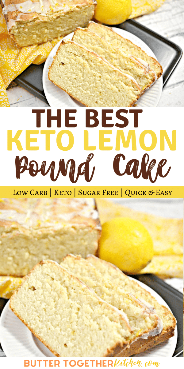 Keto Lemon Pound Cake is decadent, moist, zesty, and tangy! In other words, it's everything you want in a lemon pound cake without everything you don't. #ketolemonpoundcake #ketopoundcake #ketolemoncake #ketocake #ketodessert