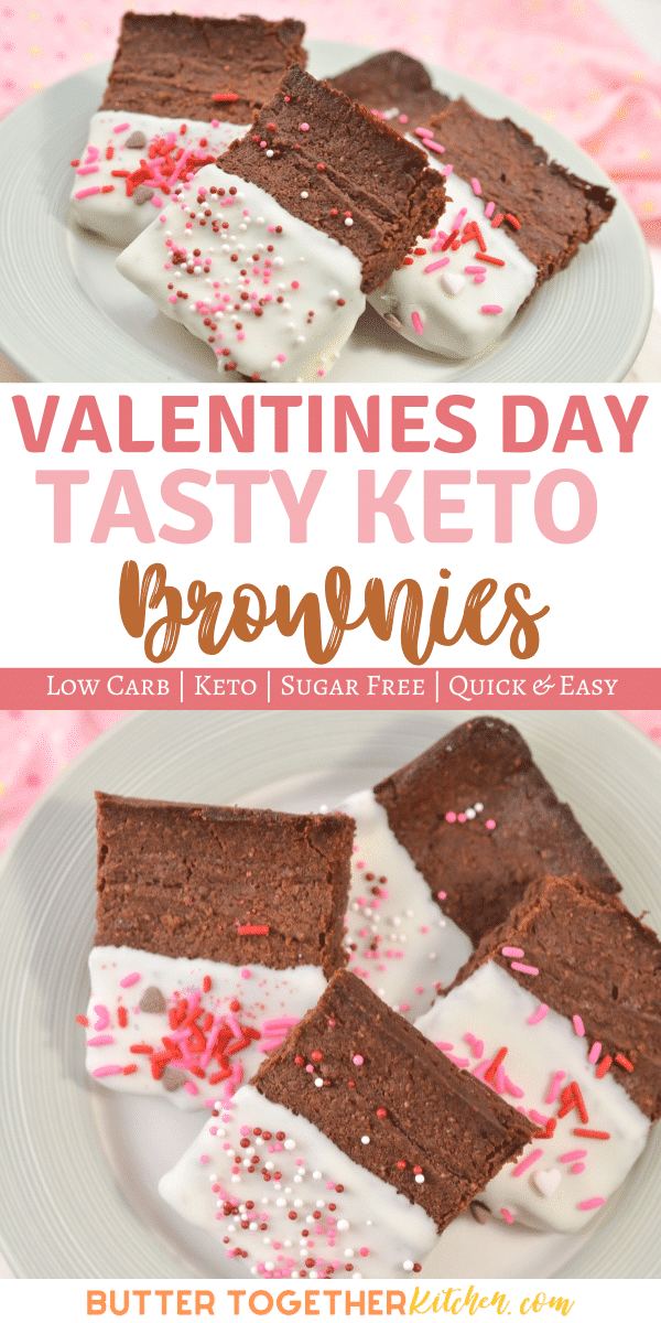 Enjoy these super delicious Valentines Day Keto Brownies for sharing or for yourself! You'll love these chocolatey keto brownies! #ketobrownies #valentinesdayketobrownies #ketodessert #ketochocolate
