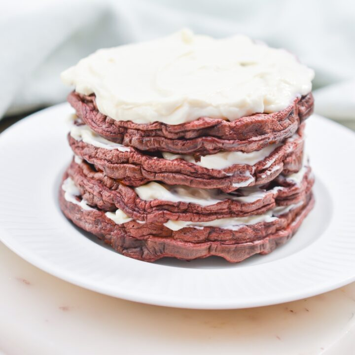Easy Keto Red Velvet Chaffles