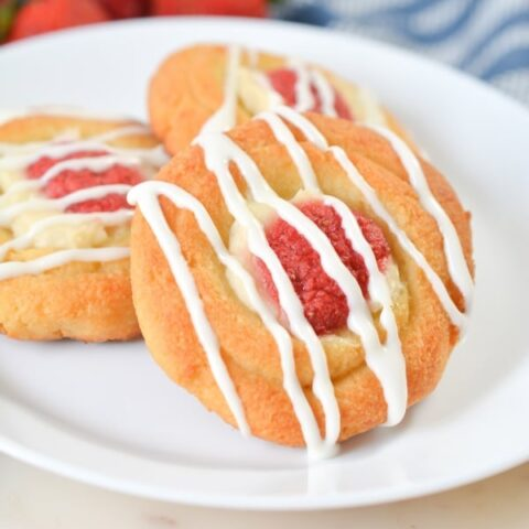 Strawberry Cheese Keto Danish